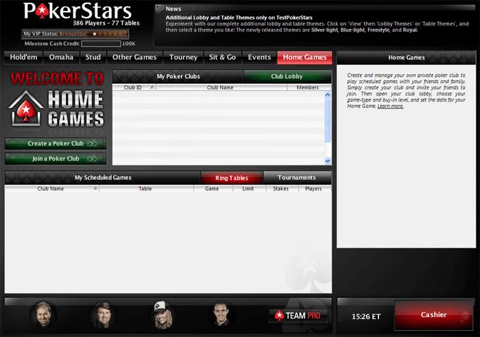 PokerStars Home Games