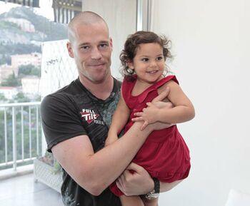 Патрик Антониус с дочкой